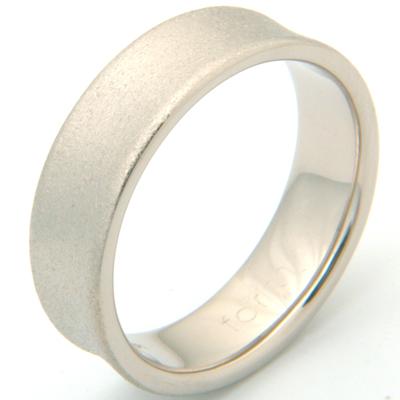 18ct White Gold Concave Satin Finish Wedding Ring 3.jpg