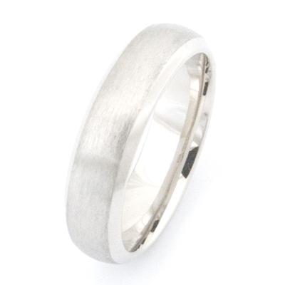 18ct White Gold Brushed Finish Wedding Ring 1.jpg