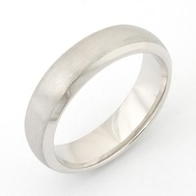 18ct White Gold Brushed Finish Wedding Ring 2.jpg