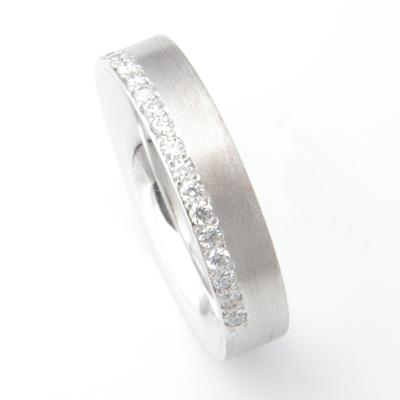 Platinum Brush Finish Matching Wedding Rings 2.jpg