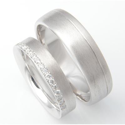 Platinum Brush Finish Matching Wedding Rings 3.jpg