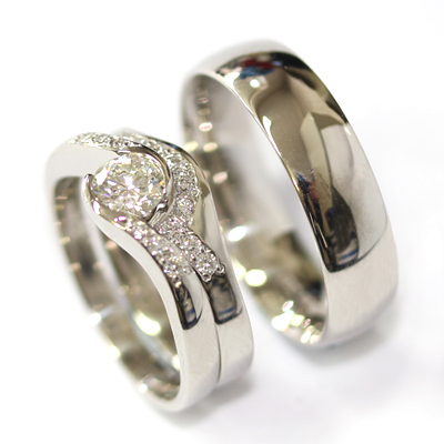 Platinum Diamond Set Fitted Wedding Ring for a Diamond Wave Engagement Ring 4.jpg