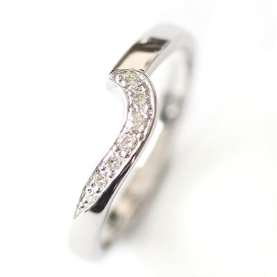 9ct White Gold Diamond Fitted Wedding Ring 1.jpg