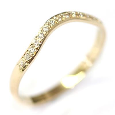 14ct Yellow Gold Diamond Set Fitted Wedding Ring 3.jpg