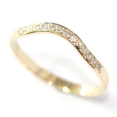 14ct Yellow Gold Diamond Set Fitted Wedding Ring 1.jpg