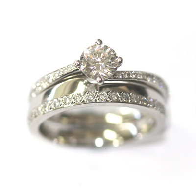 Platinum Diamond Set Fitted Wedding Ring 1.jpg
