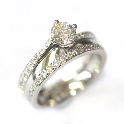 Platinum Diamond Set Fitted Wedding Ring 3.jpg