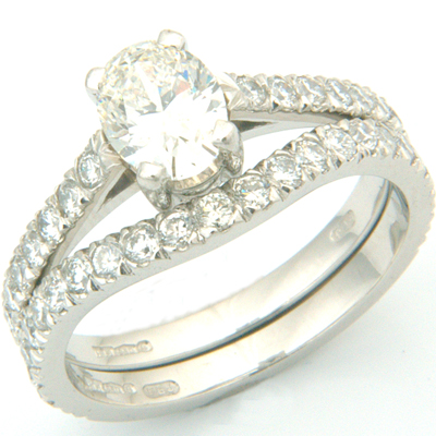 Platinum Two Thirds Diamond Set Fitted Wedding Ring 2.jpg