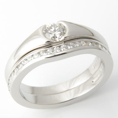 Platinum Half Eternity Diamond Set Fitted Wedding Ring 3.jpg