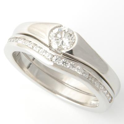 Platinum Half Eternity Diamond Set Fitted Wedding Ring 5.jpg