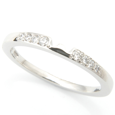 Platinum Diamond Set Fitted Wedding Ring to Solitaire Engagement Ring 1.jpg