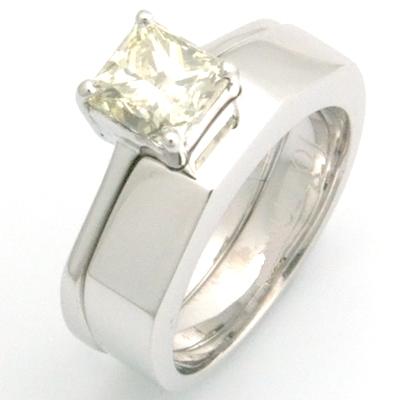 18ct White Gold Handmade Plain Fitted Wedding Ring 3.jpg