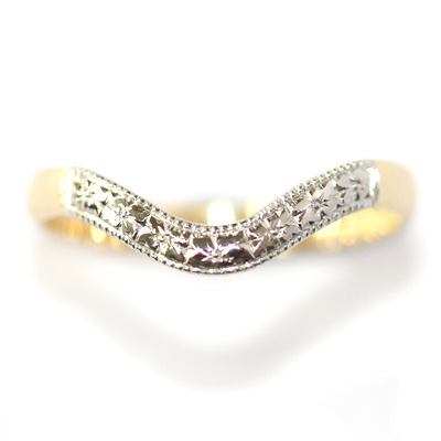 Yellow and White Gold Engraved Fitted Wedding Ring 3.jpg