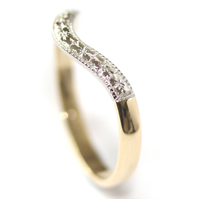 Yellow and White Gold Engraved Fitted Wedding Ring 4.jpg