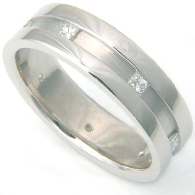 Palladium Channel Set Princess Cut Diamond Wedding Ring 2.jpg