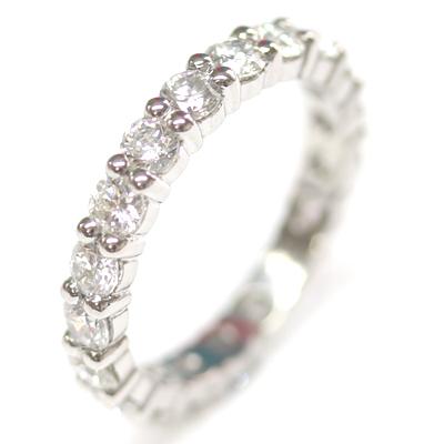 Platinum Fully Diamond Set Eternity Ring with Round Brilliant Cut Diamonds 4.jpg