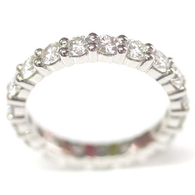 Platinum Fully Diamond Set Eternity Ring with Round Brilliant Cut Diamonds 5.jpg