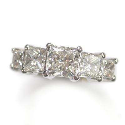 Five Stone Princess Cut Diamond Eternity Ring 2.jpg