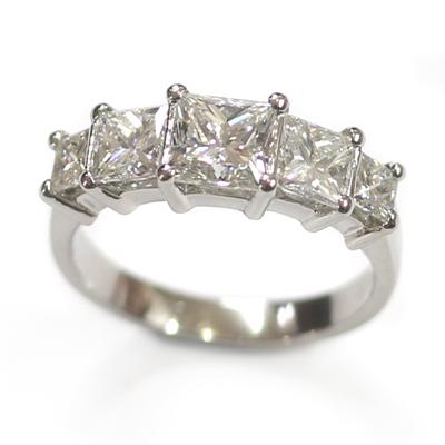 Five Stone Princess Cut Diamond Eternity Ring 1.jpg