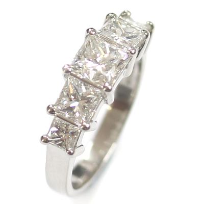 Five Stone Princess Cut Diamond Eternity Ring 3.jpg