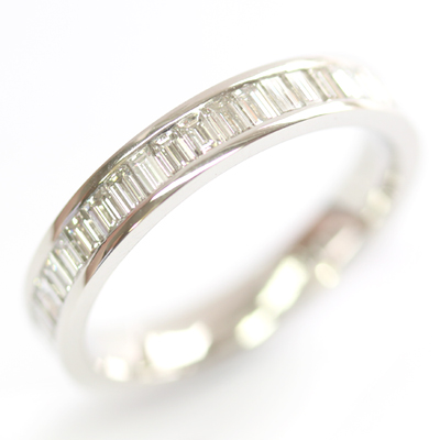 Platinum Baguette Cut Diamond Eternity Ring 3.jpg
