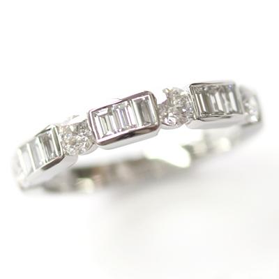 Platinum Round Brilliant Cut and Baguette Cut Diamond Eternity Ring 6.jpg