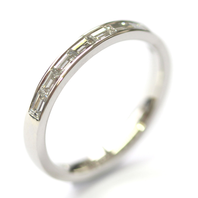 Platinum Channel Set Baguette Cut Diamond Eternity Ring 1.jpg