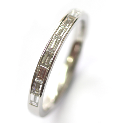 Platinum Channel Set Baguette Cut Diamond Eternity Ring 3.jpg