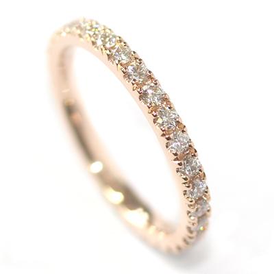 Rose Gold Fully Diamond Set Eternity Ring 1.jpg