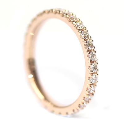 Rose Gold Fully Diamond Set Eternity Ring 5.jpg