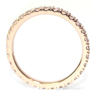 Rose Gold Fully Diamond Set Eternity Ring 6.jpg