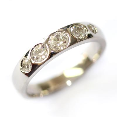 18ct White Gold Eternity Using the Customers Diamonds 3.jpg