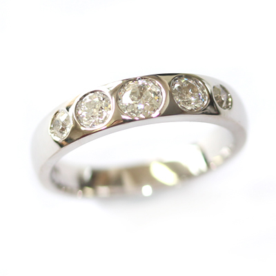 18ct White Gold Eternity Using the Customers Diamonds 1.jpg