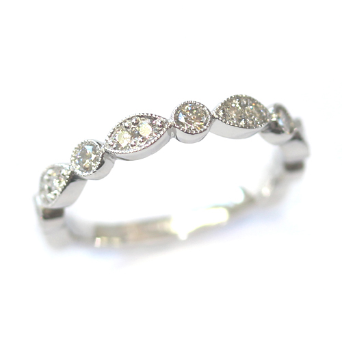 Platinum Two Thirds Set Scalloped Stacker Ring.jpg