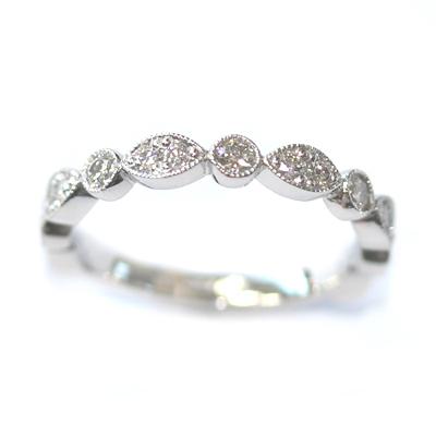 Platinum Two Thirds Set Scalloped Stacker Ring 1.jpg