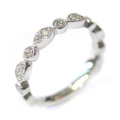 Platinum Two Thirds Set Scalloped Stacker Ring 6.jpg