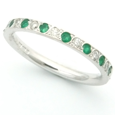 18ct white gold diamond and emerald eternity ring 2.jpg