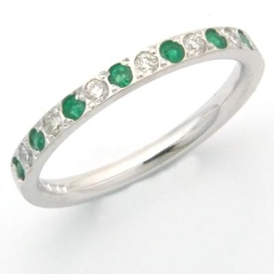 18ct white gold diamond and emerald eternity ring 1.jpg