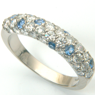 18ct white gold diamond and sapphire pave eternity ring 2.jpg
