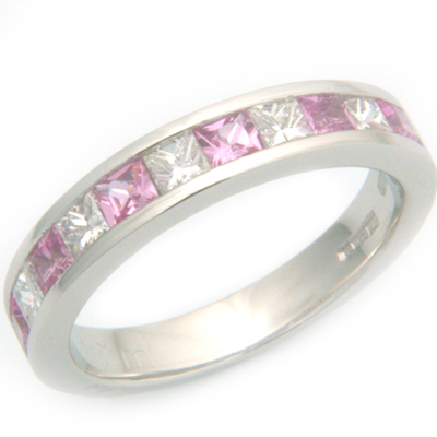 Platinum Diamond & Pink Sapphire Eternity Ring 2.jpg