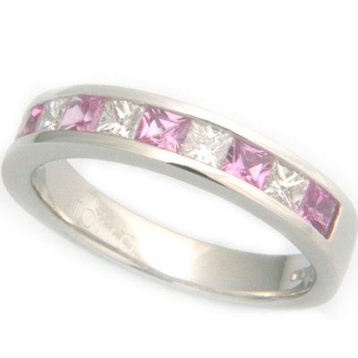 Platinum Diamond & Pink Sapphire Eternity Ring 1.jpg