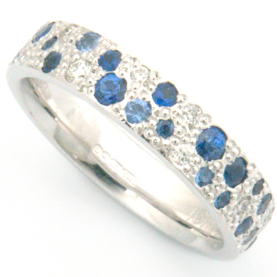 Sapphire and Diamond Scatter Pave Eternity Ring 1.jpg