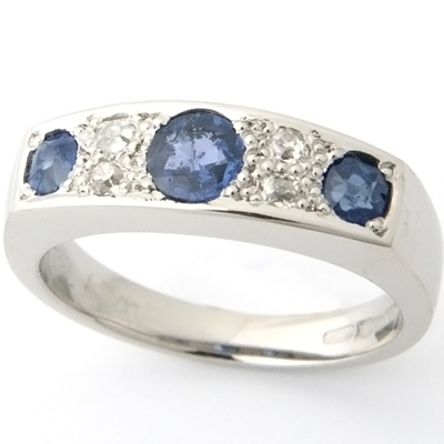 Palladium Sapphire and Diamond Eternity Ring 1.jpg