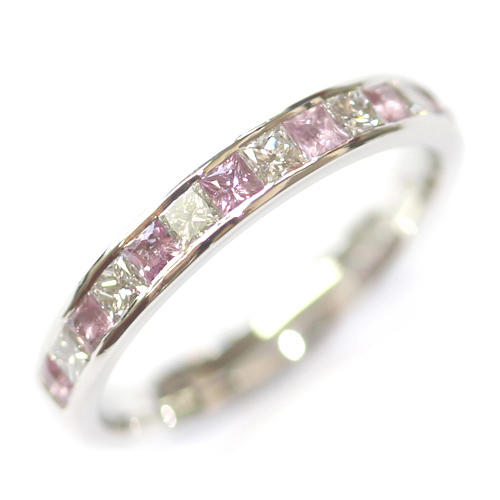 Platinum Pink Sapphire and Diamond Eternity Ring.jpg