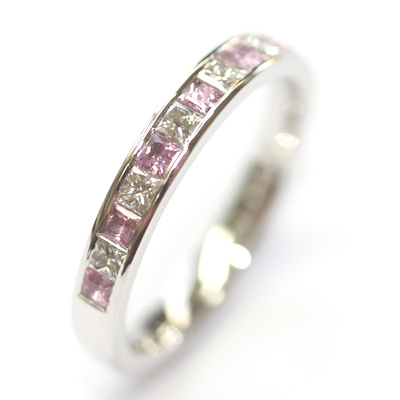 Platinum Pink Sapphire and Diamond Eternity Ring 5.jpg