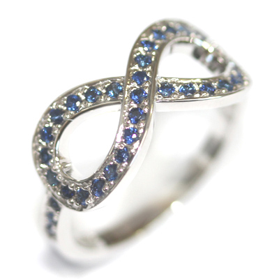 18ct White Gold Sapphire Infinity Eternity Ring 2.jpg