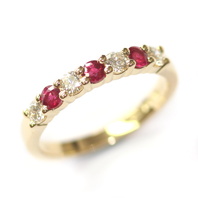 18ct Yellow Gold Ruby and Diamond Eternity Ring 2.jpg