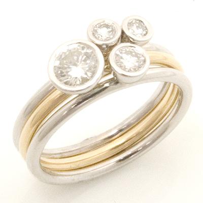 Yellow and White Gold Diamond Stacker Ring 1.jpg