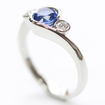 Platinum Sapphire and Diamond Dress Ring 5.jpg