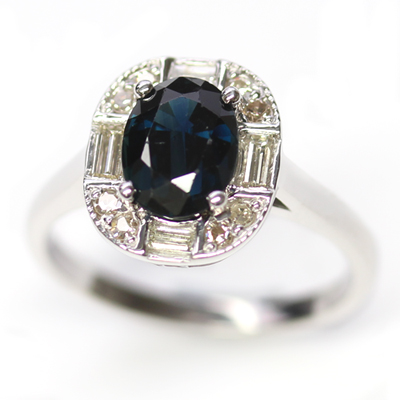 White Gold Sapphire and Diamond Art Deco Dress Ring 2.jpg
